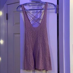 Knit Tank Top with Crisscross Back